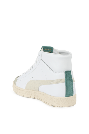 Ralph Sampson High Top in White and Green PUMA