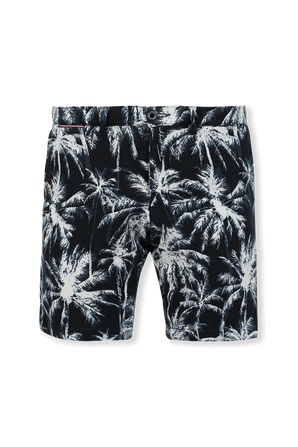 Brooklyn Palm Print Slim Fit Shorts in Blue TOMMY HILFIGER