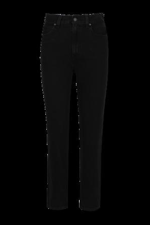 מכנסי ג'ינס גבוהים וישרים בגוון שחור LEVI`S