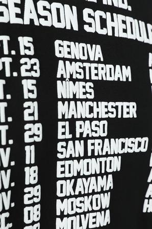 season Schedule T-Shirt in Black DIESEL