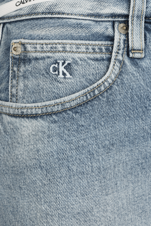 High Rise Denim Skirt in Blue CALVIN KLEIN