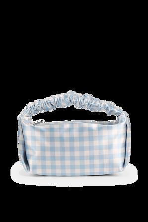 Mini Scrunchi Bag in White and Blue ALEXANDER WANG