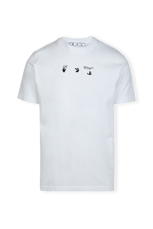 Red Marker Slim Fit Tee in White OFF WHITE