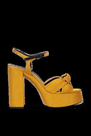 Platform Sandals in Mustard SAINT LAURENT