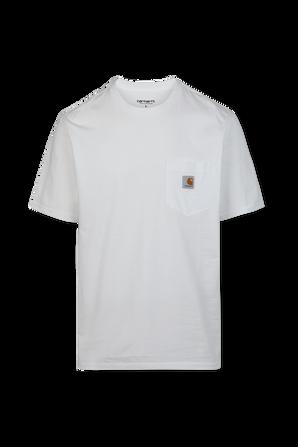 חולצת טי עם כיס חזה בצבע לבן CARHARTT WIP
