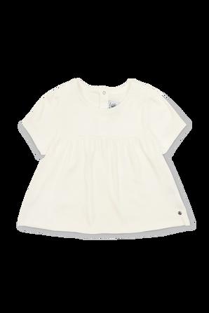 גילאי 18-24 חודשים חולצה קצרה עם רקמת לוגו PETIT BATEAU