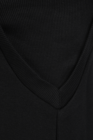 French Terry Dress in Black FILA