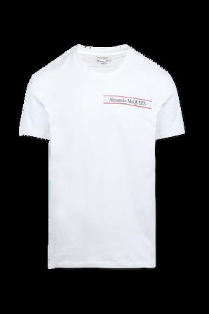 Organic Light Jersey Shirt in White ALEXANDER MCQUEEN
