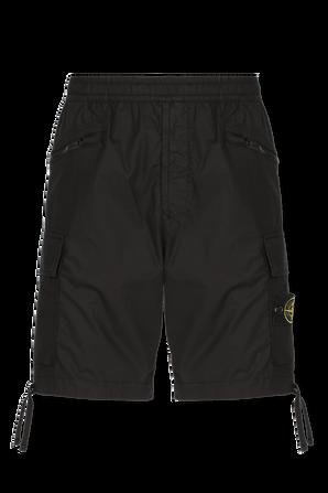 Bermuda Cargo Shorts in Black STONE ISLAND