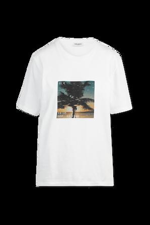 Sunset T-Shirt in White SAINT LAURENT