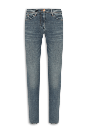 Mid Rise 5 Pockets Skinny Jeans in Light Blue ARMANI EXCHANGE