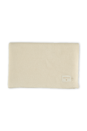 So Natural Knitted Baby Blanket in Cream NOBODINOZ