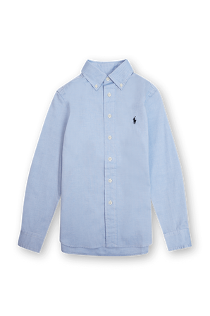 גילאי 8-16 חולצת כפתורים בתכלת POLO RALPH LAUREN KIDS