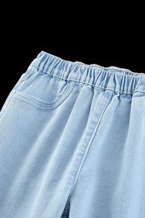 גילאי 2-10 מכנסי ג'ינס רכים בשטיפה בהירה PETIT BATEAU