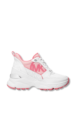 Mickey Colorblock Lace-Up Sneakers in White ans Pink MICHAEL KORS