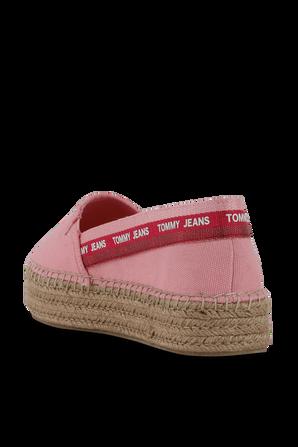 Repeat Logo Flatform Espadrilles in Pink TOMMY HILFIGER