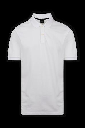 Regular Fit Polo Shirt in White BOSS