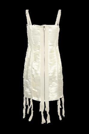 Cutout Satin Mini Dress in White GIVENCHY