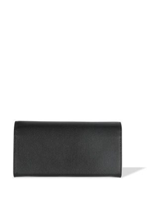 Flap Continental Leather Wallet in Black VALENTINO