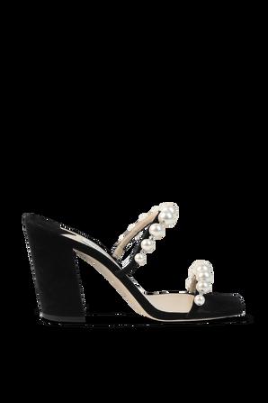 Amara Pearl Sandals in Black JIMMY CHOO