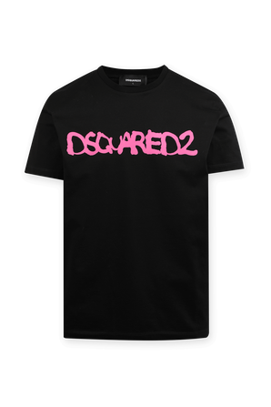 D2 Fluo Cool T-Shirt in Black DSQUARED2