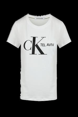 Tel Aviv Logo T shirt in White - Women CALVIN KLEIN