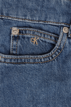 גילאי 4-16 שמלת ג'ינס בשטיפה כחולה CALVIN KLEIN