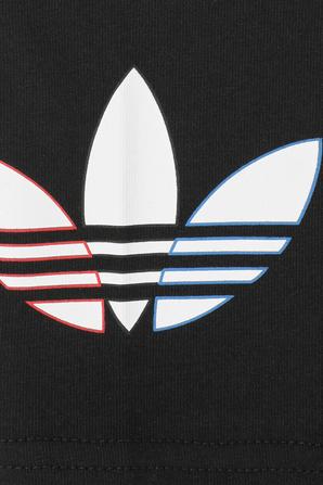 גילאי 7-14 טייץ לוגו בשחור ADIDAS ORIGINALS