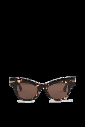 Cat-Eye Sunglasses in Brown BOTTEGA VENETA