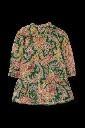 גילאי 1-10 שמלת שכבות בהדפס פייזלי ZIMMERMANN KIDS