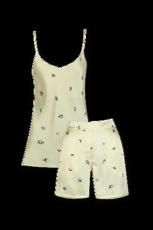 Indya Cream Silk Camisole Set OLIVIA VON HALLE