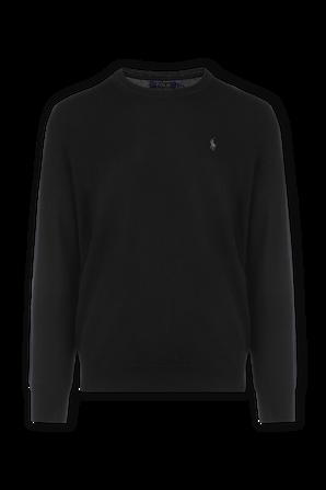 Black Slim Washable Merino Sweater POLO RALPH LAUREN