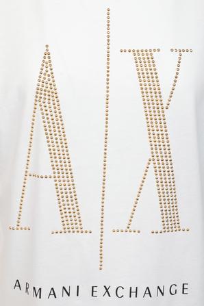 Icon Logo Regular Fit T-Shirt in White ARMANI EXCHANGE