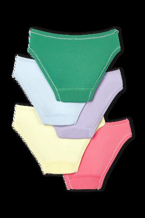 גילאי 2-12 מארז חמישה תחתונים בגוונים שונים עם הדפס פירותי PETIT BATEAU