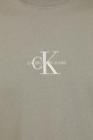 Slim Monogram T-Shirt in Beige CALVIN KLEIN