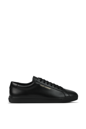 Andy Low Top Leather Sneakers in Black SAINT LAURENT