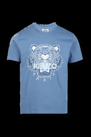 חולצת טי עם סמל הנמר בצבע כחול KENZO
