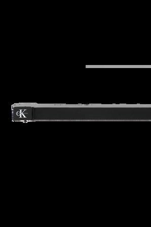 Canvas Plaque Belt in Black CALVIN KLEIN