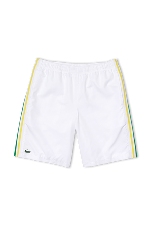 מכנסי ספורט קצרים בצבע לבן LACOSTE
