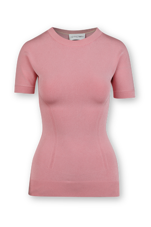 Knitted T-Shirt in Pink AZ FACTORY