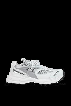 Marathon Sneakers in White and Silver AXEL ARIGATO