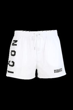 Icon Swim Trunks in White DSQUARED2