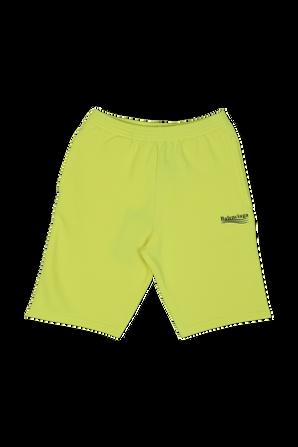 גילאי 2-10 מכנסיים לוגו קצרים בצהוב BALENCIAGA KIDS
