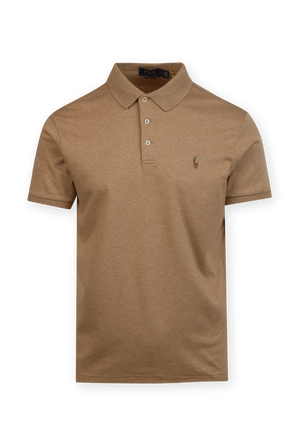 Brown Pony Custom Slim Fit Polo Shirt in Brown POLO RALPH LAUREN