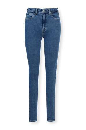 High Rise Skinny Jeans in Blue CALVIN KLEIN