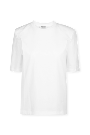 Short Sleeve T-Shirt With Shoulder Pads THE ATTICO