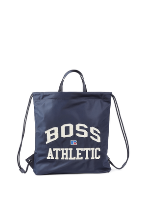 Boss X Russel Drawstring Logo Bag In Lightweight Nylon BOSS