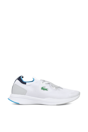 Run Spin Knit Textile Sneakers In White LACOSTE