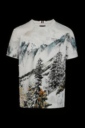 חולצת טי עם הדפס גרפי בצבע אפור בהיר TOMMY HILFIGER