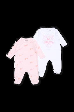 גילאי 1-12 חודשים סט שני אוברולים ורוד KENZO KIDS